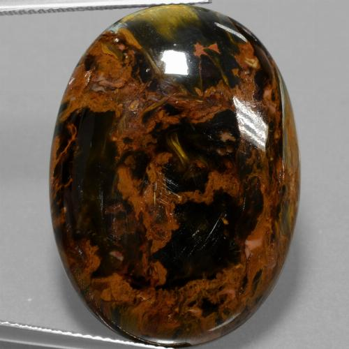 Multicolor Pietersite Gem - 36.5ct Oval Cabochon (ID: 456683)