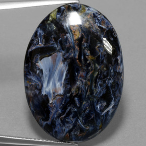 24.7ct Oval Cabochon Multicolor Pietersite Gem (ID: 456685)