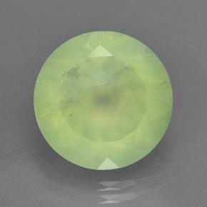 Medium Green Prehnite Gem - 8.6ct Sfaccettatura rotonda (ID: 237815)