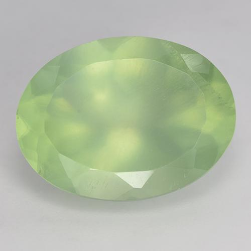 Green Prehnite Gem - 9ct Oval Facet (ID: 243545)