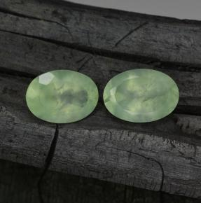 Green Prehnite Gem - 5.9ct Oval Facet (ID: 243792)