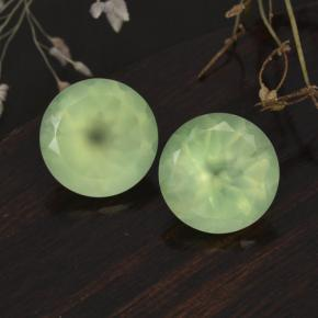 5.8ct Round Facet Green Prehnite Gem (ID: 248654)