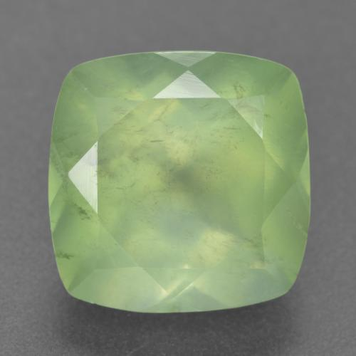 7.6ct Cushion-Cut Green Prehnite Gem (ID: 304560)