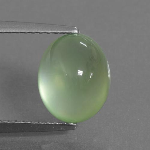 Green Prehnite Gem - 3.6ct Oval Cabochon (ID: 306899)