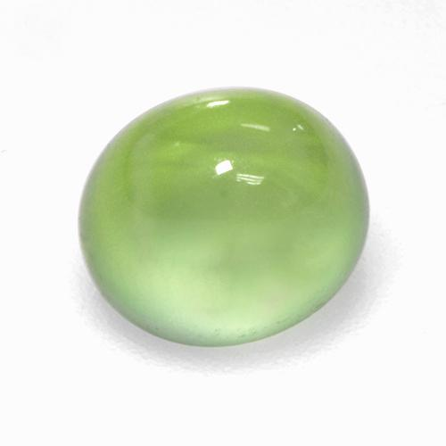 Green Prehnite Gem - 2.9ct Oval Cabochon (ID: 307423)
