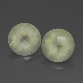 Green Prehnite Gem - 1.9ct Round Checkerboard (ID: 314647)