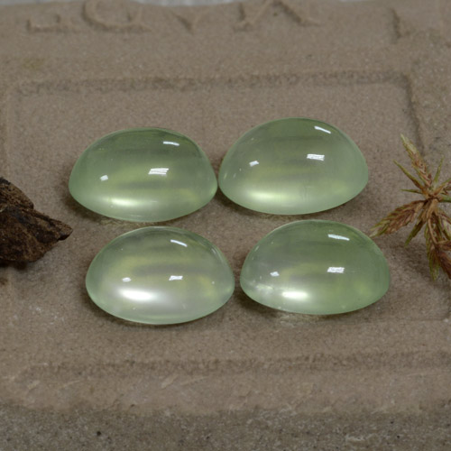 Green Prehnite Gem - 2.5ct Oval Cabochon (ID: 322518)
