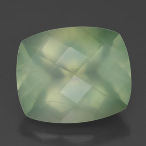 Medium Green  Prehnite Gem - 5.7ct Checkerboard a cuscino (ID: 327577)
