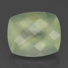 thumb image of 5.6ct Cushion Checkerboard Green Prehnite (ID: 327625)