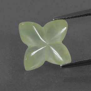 Green Prehnite Gem - 5.4ct Flower-Cut (ID: 332055)