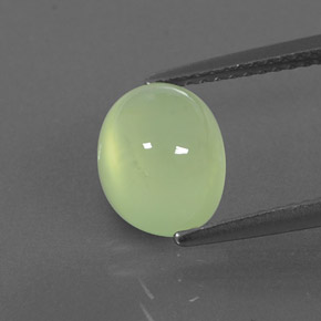 Green Prehnite Gem - 3ct Oval Cabochon (ID: 343583)