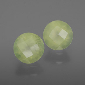 Green Prehnite Gem - 1.9ct Round Checkerboard (ID: 367050)