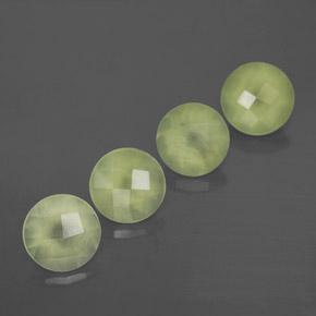 Green Prehnite Gem - 1.9ct Round Checkerboard (ID: 367251)
