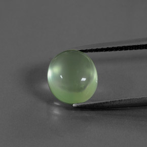Green Prehnite Gem - 3.4ct Oval Cabochon (ID: 376320)