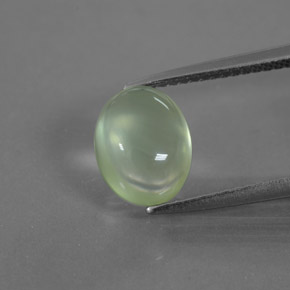 Green Prehnite Gem - 2.7ct Oval Cabochon (ID: 376903)