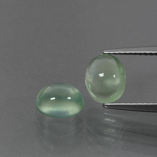 Green Prehnite Gem - 1.6ct Oval Cabochon (ID: 389506)