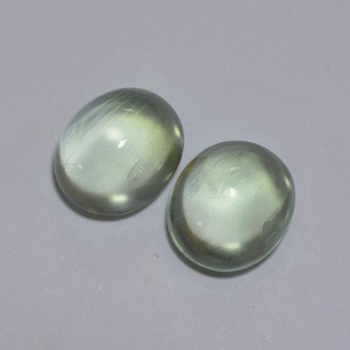 Green Prehnite Gem - 1.8ct Oval Cabochon (ID: 389508)