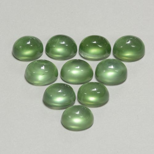 Medium Green Prehnite Gem - 1.1ct Oval Cabochon (ID: 450183)