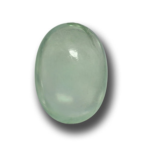 Green Prehnite Gem - 1.9ct Oval Cabochon (ID: 458975)