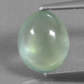 Green Prehnite Gem - 1.7ct Oval Cabochon (ID: 459257)