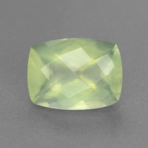 Lime Green Prehnite Gem - 1.6ct Cushion Checkerboard (ID: 547608)