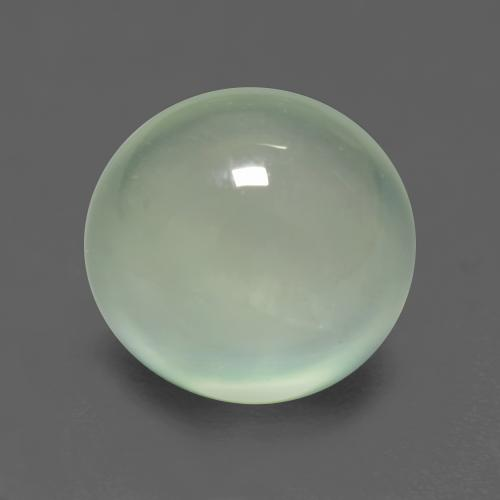 Very Light Sage Green Prehnite Gem - 2.8ct Oval Cabochon (ID: 548088)