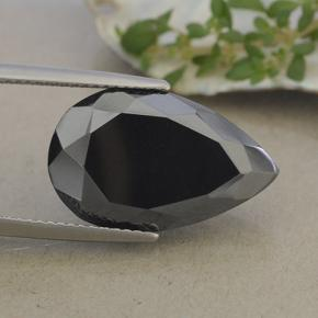 Dark Gray Metallic Pyrite Gem - 17.2ct Pear Facet (ID: 492085)