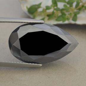 Dark Gray Metallic Pyrite Gem - 20.1ct Pear Facet (ID: 492088)