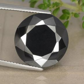 Black and Grey Metallic Pyrite Gem - 21.1ct 圆形切面 (ID: 492288)