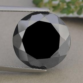 Dark Gray Metallic Pyrite Gem - 25.3ct Round Facet (ID: 492452)