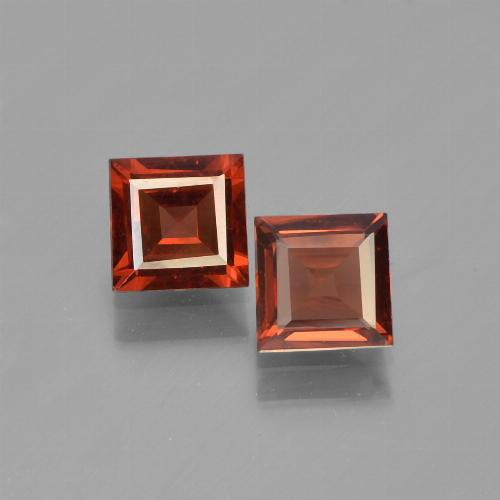 Red Pyrope Garnet Gem - 0.7ct Square Step-Cut (ID: 450923)