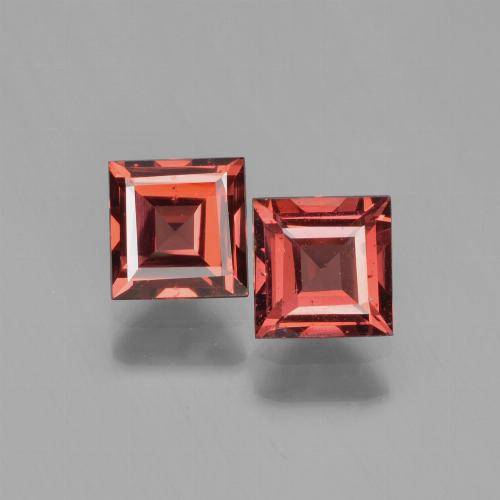 Deep Red Pyrope Garnet Gem - 0.8ct Square Step-Cut (ID: 450928)