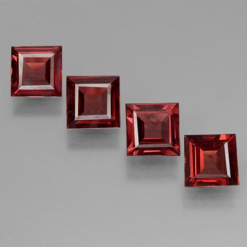 Red Pyrope Garnet Gem - 0.6ct Square Step-Cut (ID: 450942)