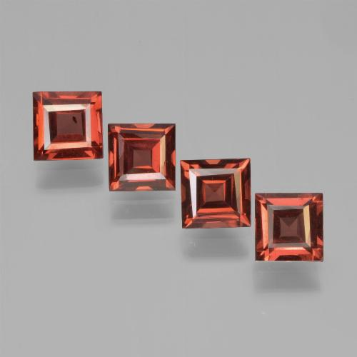 Scarlet Red Pyrope Garnet Gem - 0.6ct Square Step-Cut (ID: 450946)