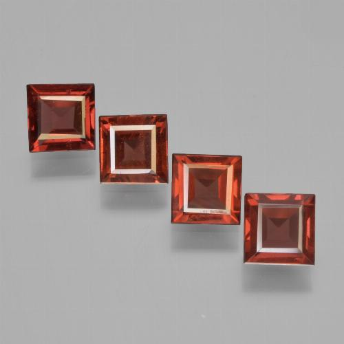 Red Pyrope Garnet Gem - 0.7ct Square Step-Cut (ID: 450948)