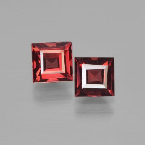 Red Pyrope Garnet Gem - 0.8ct Square Step-Cut (ID: 450964)