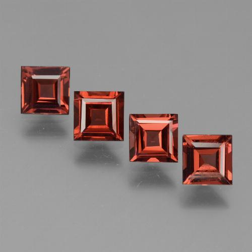 Red Pyrope Garnet Gem - 0.7ct Square Step-Cut (ID: 450981)
