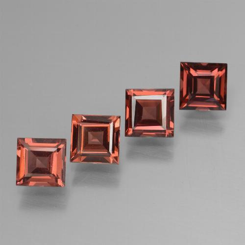 Medium Red Pyrope Garnet Gem - 0.8ct Square Step-Cut (ID: 450986)