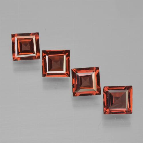 Red Pyrope Garnet Gem - 0.6ct Square Step-Cut (ID: 450992)