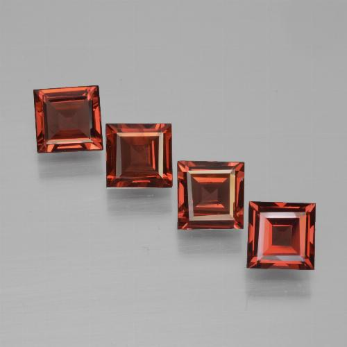 Medium Red Pyrope Garnet Gem - 0.7ct Square Step-Cut (ID: 450995)
