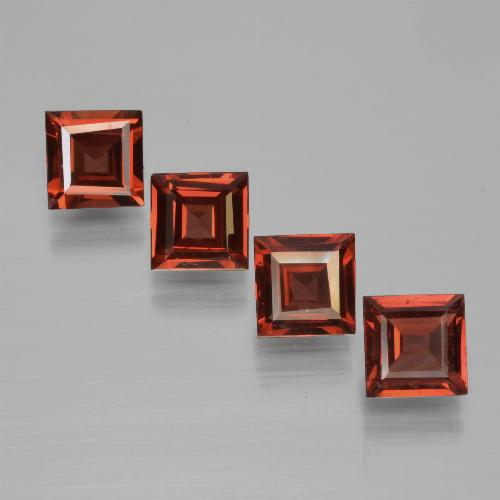 Medium Red Pyrope Garnet Gem - 0.7ct Square Step-Cut (ID: 451001)