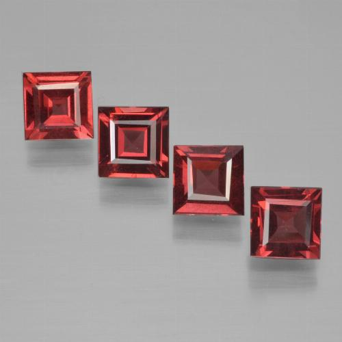 Deep Wine Red Pyrope Garnet Gem - 0.7ct Square Step-Cut (ID: 451004)