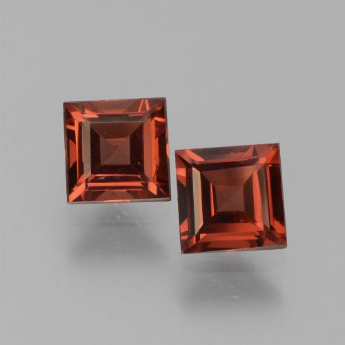 Medium Red Granate Piropo Gema - 0.8ct Corte cuadrado step (ID: 451015)