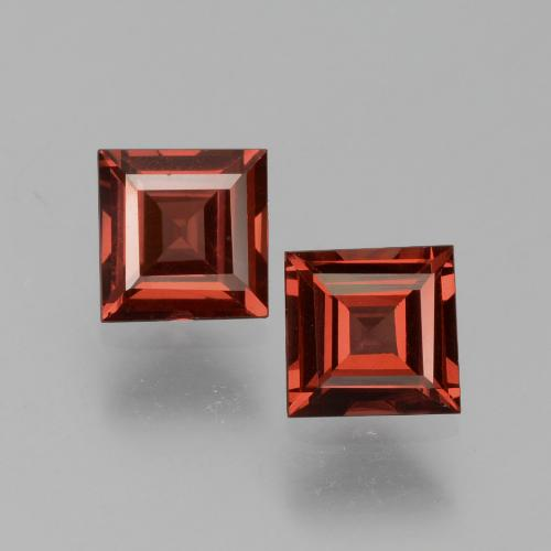 Red Pyrope Garnet Gem - 0.8ct Square Step-Cut (ID: 451021)