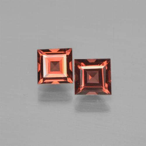 Red Pyrope Garnet Gem - 0.8ct Square Step-Cut (ID: 451030)