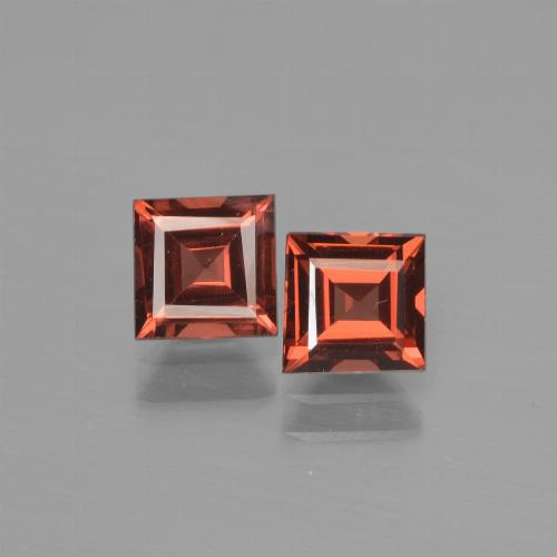 Red Pyrope Garnet Gem - 0.9ct Square Step-Cut (ID: 451058)