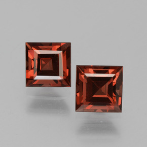Red Pyrope Garnet Gem - 1ct Square Step-Cut (ID: 451069)