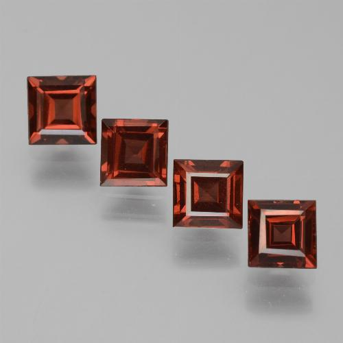 0.8ct Square Step-Cut Red Pyrope Garnet Gem (ID: 451074)
