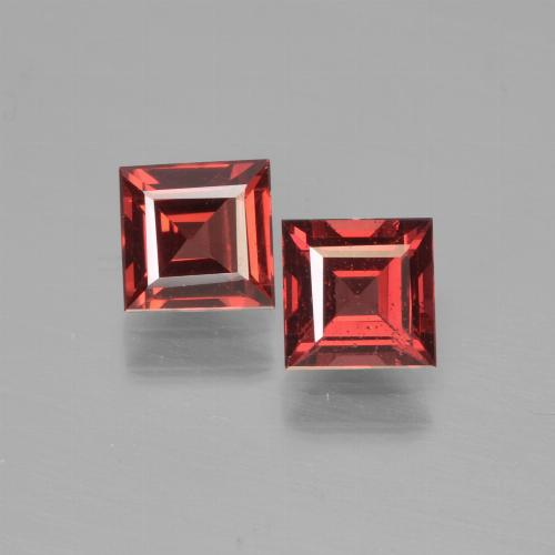 Red Pyrope Garnet Gem - 0.7ct Square Step-Cut (ID: 451081)