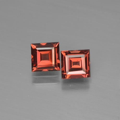 Red Pyrope Garnet Gem - 0.7ct Square Step-Cut (ID: 451107)